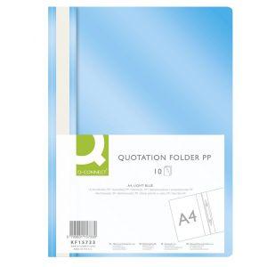 Skoroszyt Q-CONNECT, PP, A4, miękki, 120/180mikr., jasnoniebieski