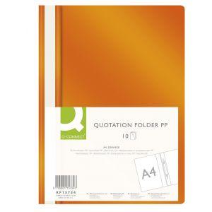 Skoroszyt Q-CONNECT, PP, A4, miękki, 120/180mikr., pomarańczowy