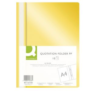 Skoroszyt Q-CONNECT, PP, A4, miękki, 120/180mikr., żółty
