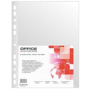 Koszulki na dokumenty OFFICE PRODUCTS, PP, A4, krystal, 40mikr., 100szt.
