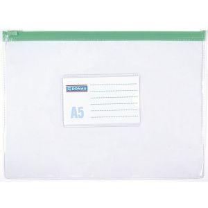 Torebka z suwakiem DONAU, PVC, A5, transparentna