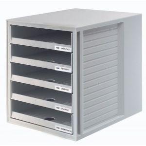 Zestaw 5 szufladek HAN CabinetSet, polistyren, A4, otwarte, szary