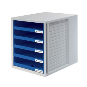 Zestaw 5 szufladek HAN CabinetSet, polistyren, A4, otwarte, niebieski