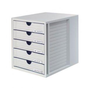 Zestaw 5 szufladek HAN System-Box, polistyren, A4, szary