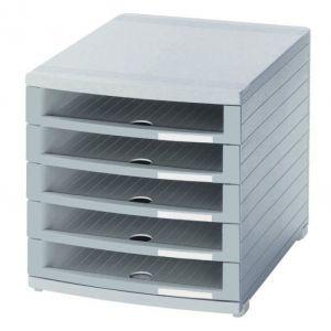 Zestaw 5 szufladek HAN Contur, polistyren, A4+, otwarte, szary