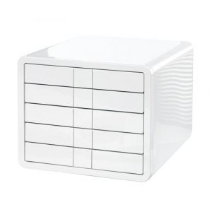 Zestaw 5 szufladek HAN iBox, ABS, A4, biały