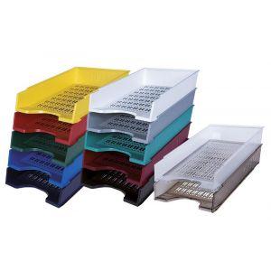 Szufladka na biurko DONAU, polistyren, A4, ażurowa, czerwona