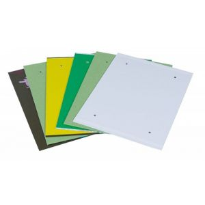 Fascykuła DONAU z etykietą, tektura/PP, A4, mix kolorów