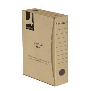 Pudło archiwizacyjne Q-CONNECT, karton, A4/80mm, szare