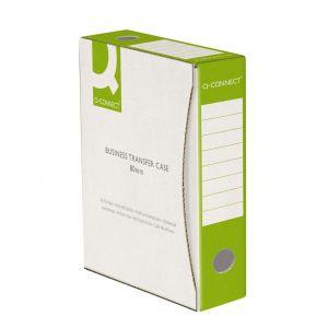 Pudło archiwizacyjne Q-CONNECT, karton, A4/80mm, zielone
