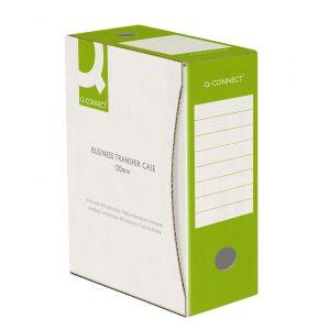 Pudło archiwizacyjne Q-CONNECT, karton, A4/120mm, zielone