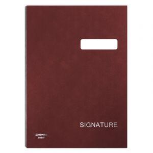 Teczka do podpisu DONAU, karton/PP, A4, 450gsm, 20-przegr., bordowa