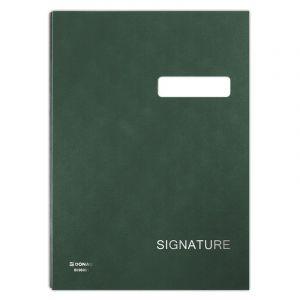Teczka do podpisu DONAU, karton/PP, A4, 450gsm, 20-przegr., zielona