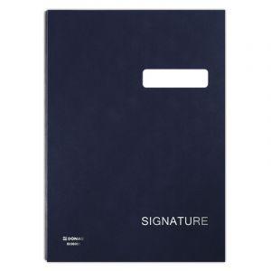 Teczka do podpisu DONAU, karton/PP, A4, 450gsm, 20-przegr., granatowa