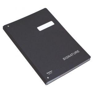 Teczka do podpisu DONAU, karton, A4, 450gsm, 20-przegr., czarna