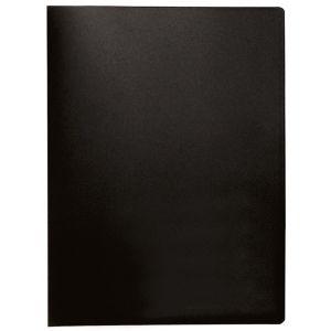 Teczka ofertowa Q-CONNECT, PP, A4, 380mikr., 40 koszulek, czarna z etykietą