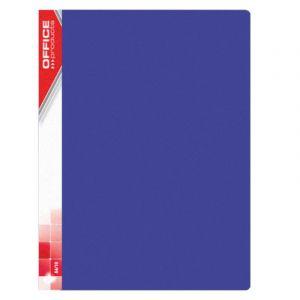 Teczka ofertowa OFFICE PRODUCTS, PP, A4, 620mikr., 20 koszulek, niebieska