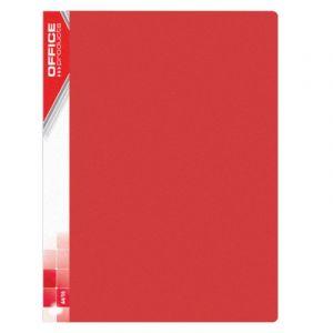 Teczka ofertowa OFFICE PRODUCTS, PP, A4, 620mikr., 20 koszulek, czerwona
