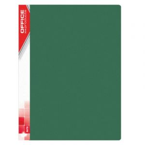 Teczka ofertowa OFFICE PRODUCTS, PP, A4, 620mikr., 20 koszulek, zielona