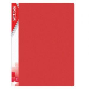 Teczka ofertowa OFFICE PRODUCTS, PP, A4, 620mikr., 30 koszulek, czerwona