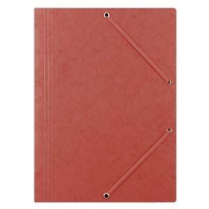 Teczka z gumką DONAU, preszpan, A4, 390gsm, 3-skrz., czerwona