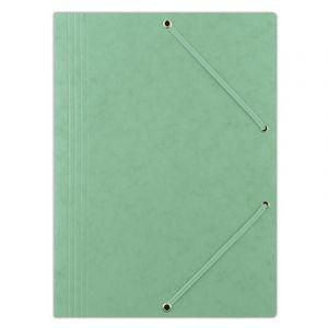 Teczka z gumką DONAU, preszpan, A4, 390gsm, 3-skrz., zielona