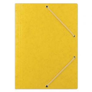 Teczka z gumką DONAU, preszpan, A4, 390gsm, 3-skrz., żółta