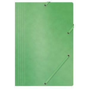 Teczka z gumką OFFICE PRODUCTS, preszpan, A4, 390gsm, 3-skrz., zielona