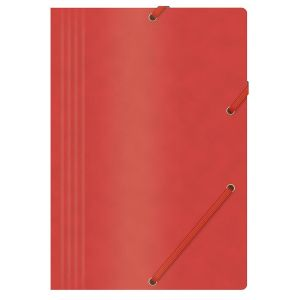 Teczka z gumką OFFICE PRODUCTS, preszpan, A4, 390gsm, 3-skrz., czerwona