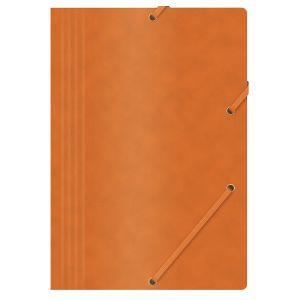 Teczka z gumką OFFICE PRODUCTS, preszpan, A4, 390gsm, 3-skrz., pomarańczowa