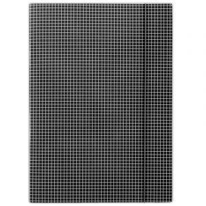Teczka z gumką DONAU, karton, A4, 400gsm, 3-skrz., czarna w kratę