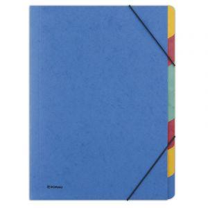 Teczka z gumką DONAU, preszpan, A4, 7 przekładek, niebieska