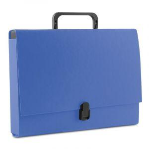 Teczka-pudełko DONAU, PP, A4/5cm, z rączką i zamkiem, niebieska