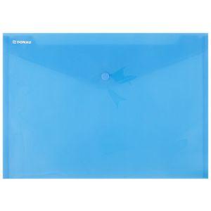 Teczka kopertowa DONAU zatrzask, PP, A4, 180mikr., niebieska