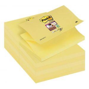 Bloczek samoprzylepny POST-IT® Super sticky Z-Notes (R350-12SS-CY), 127x76mm, 1x90 kart., żółty