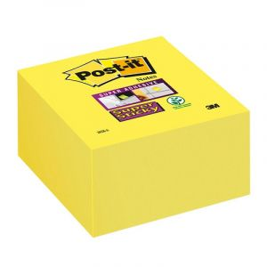 Kostka samoprzylepna POST-IT® Super Sticky (2028-S), 76x76mm, 1x350 kart., ultra żółta
