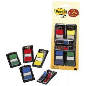 Zestaw promocyjny POST-IT® (680-VAD5EU), PP, 25x43mm/12x43mm, 4x50/2x24 kart., mix kolorów