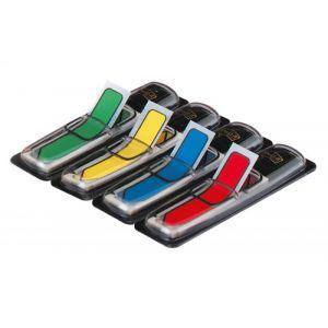Zakładki indeksujące POST-IT® (684-ARR3), PP, 12x43mm, strzałka, 4x24 kart., mix kolorów