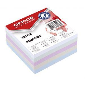 Kostka OFFICE PRODUCTS nieklejona, 85x85x40mm, mix kolorów