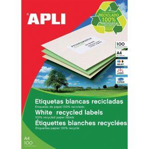 Etykiety ekologiczne APLI, 70x37mm, prostokątne, białe