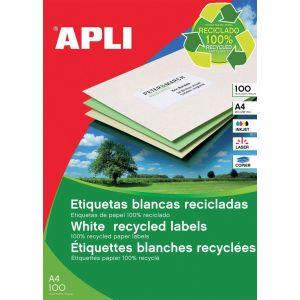 Etykiety ekologiczne APLI, 105x37mm, prostokątne, białe