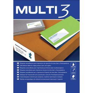 Etykiety na płyty CD/DVD MULTI 3, średnica 117mm, okrągłe, białe