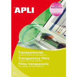 Folia samoprzylepna APLI, 210x297mm, 10szt., transparentna