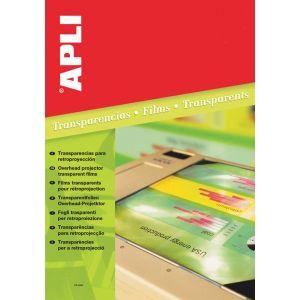 Folia do rzutników APLI, A4, kopiarka, bezbarwna 100ark.