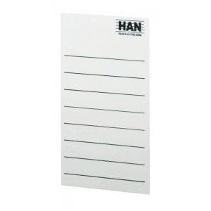 Etykiety samoprzylepne do pojemników na magazyny HAN, szaro-białe