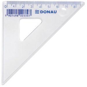 Ekierka DONAU, mała, 8,5cm, 45°, transparentna