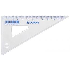 Ekierka DONAU, mała, 12cm, 60°, transparentna