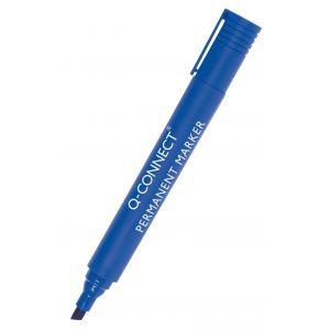 Marker permanentny Q-CONNECT, ścięty, 3-5mm (linia), niebieski