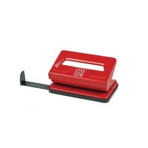 Dziurkacz SAX128S, dziurkuje do 12 kartek, czerwony