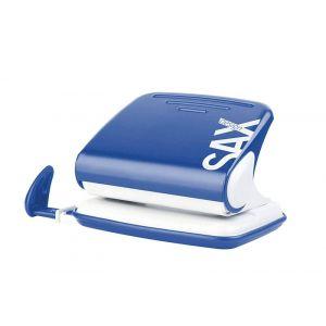 Dziurkacz SAXDesign 318, dziurkuje do 20 kartek, niebieski